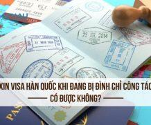 Xin visa Hàn Quốc khi đang bị đình chỉ công tác có được không?